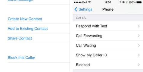 iOS 7: Blocking inbound calls and messages