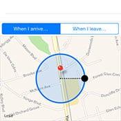 Adjusting the location alert radius in iOS Reminders