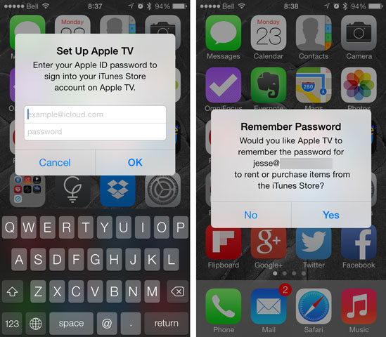 Quickly setting up a new Apple TV using your iPhone
