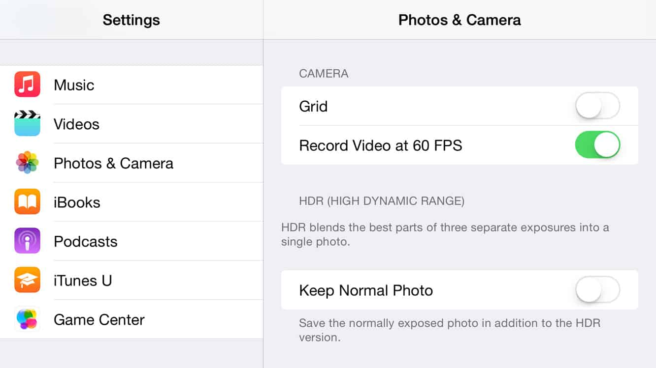 Enabling 60 fps Video Recording on iPhone 6 and iPhone 6 Plus