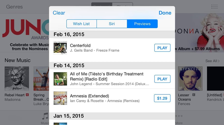 Managing iTunes Wish Lists
