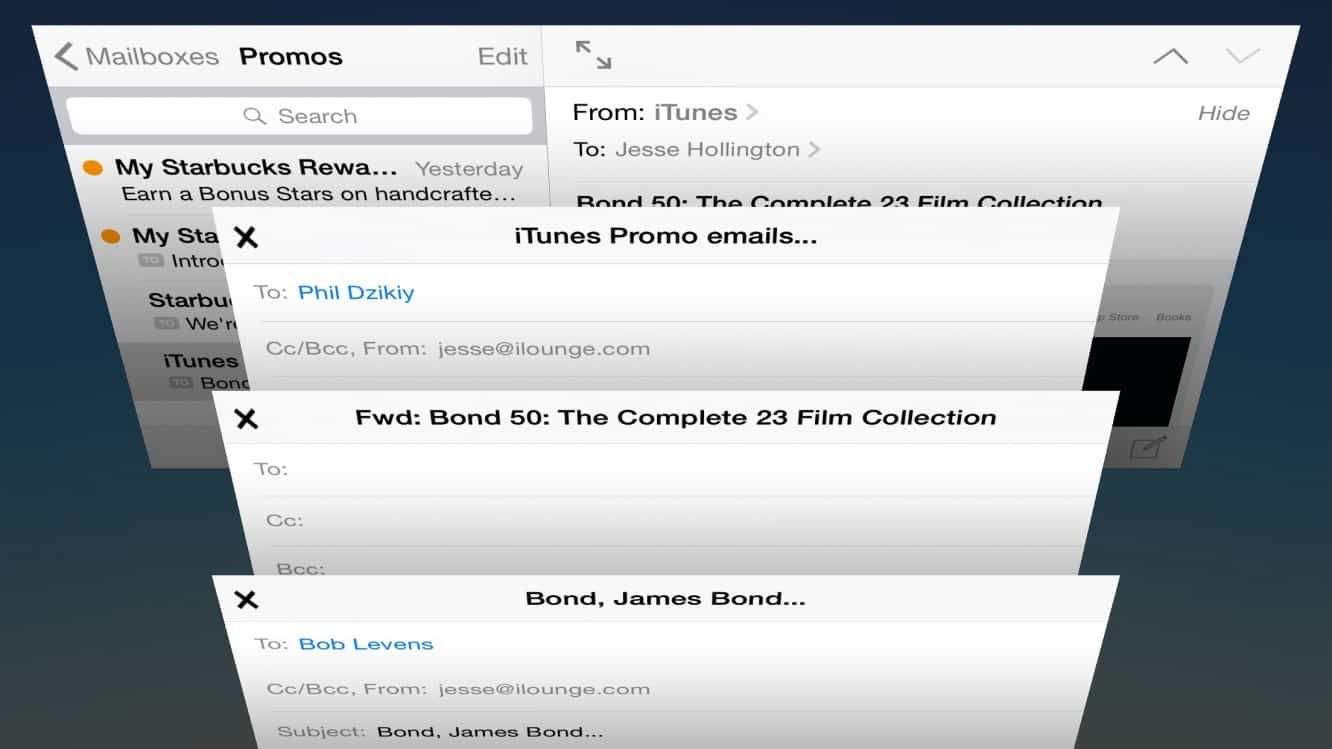 Browse your mailbox while composing a message