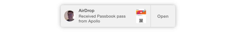 Sharing Passbook Passes