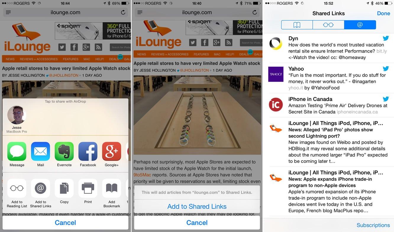 Adding RSS Feeds to Safari in iOS 8