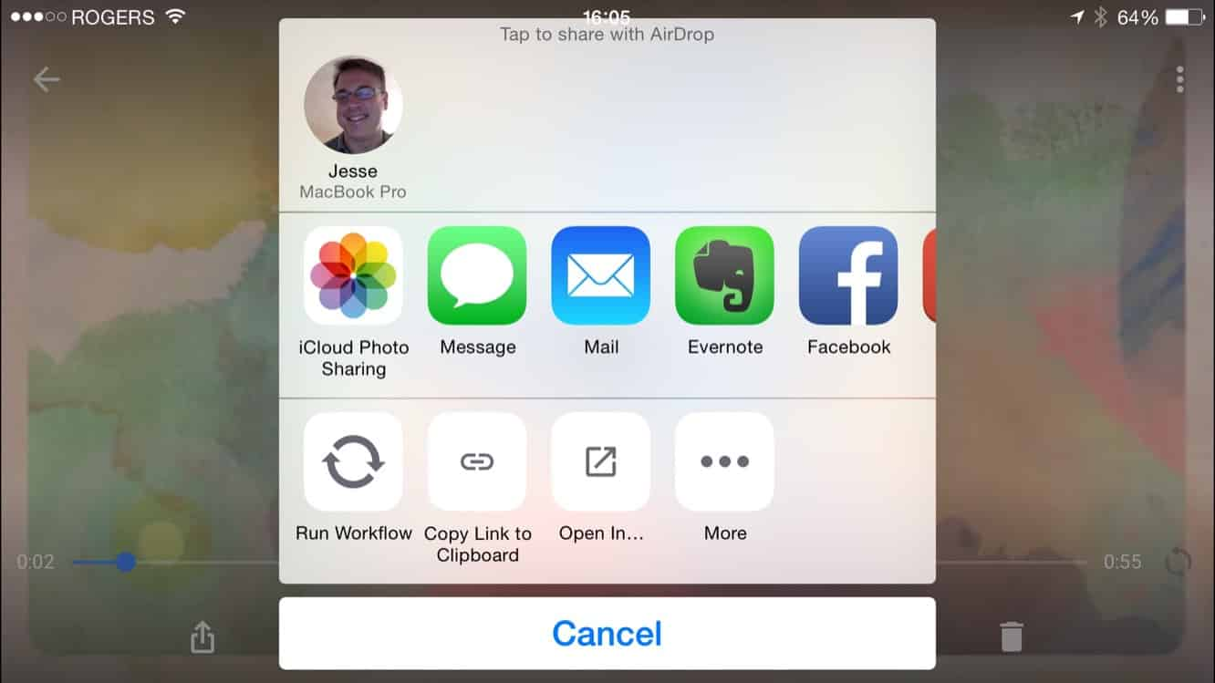 Sending to iCloud Shared Photo albums from other apps