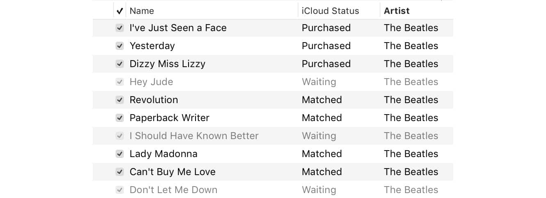"Fixing tracks stuck ""Waiting"" in Apple Music"