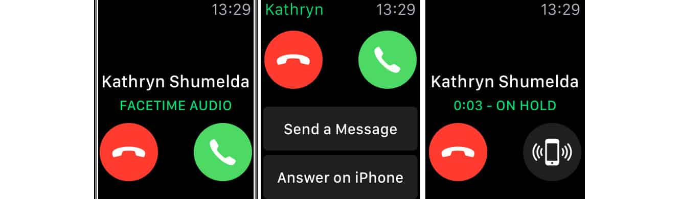 Answering calls on your iPhone from your Apple Watch