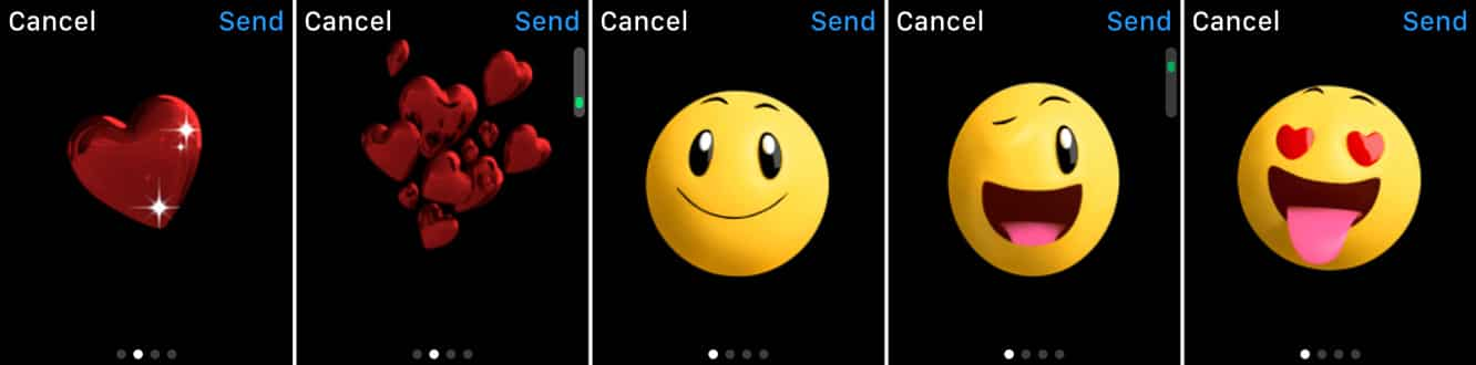 Changing up animated emojis in Apple Watch Messages