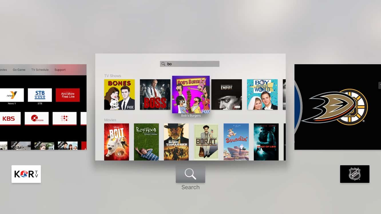 Switching between apps on the new Apple TV