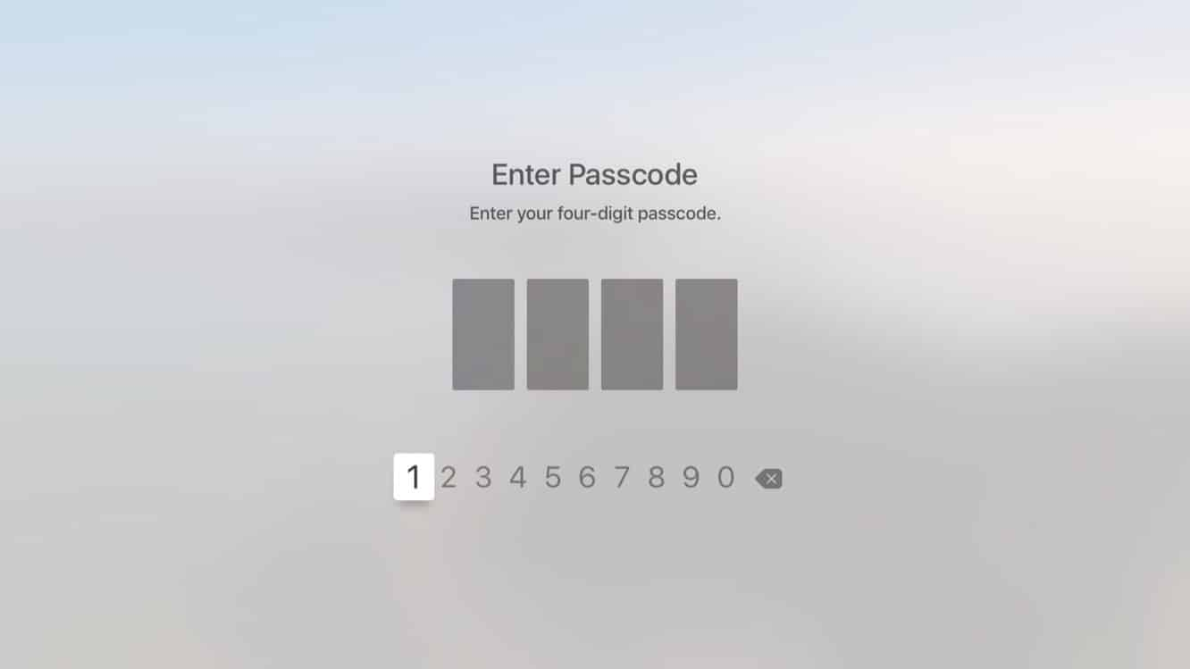 Using a Passcode for Purchases on the Apple TV