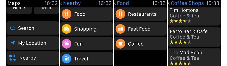Using 'Nearby' on Apple Watch