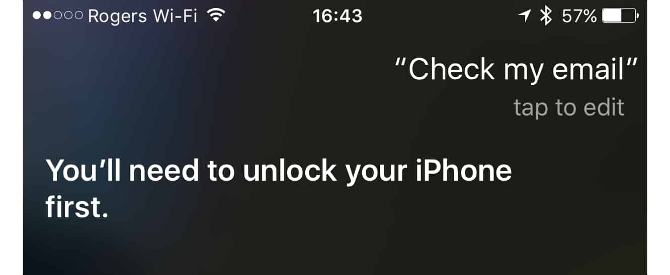Quickly unlocking your iPhone for Siri