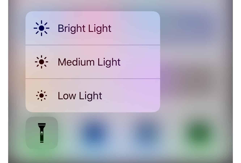 Choosing iPhone Flashlight Brightness