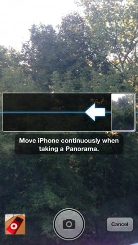 Taking Right-to-Left Panoramic Photos