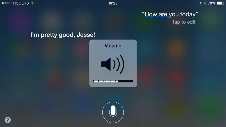 Adjusting Siri's volume