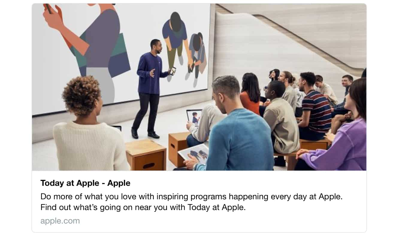 Apple will be adding App Prototyping to 'Today at Apple' sessions