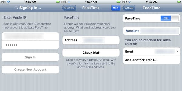 Touching FaceTime