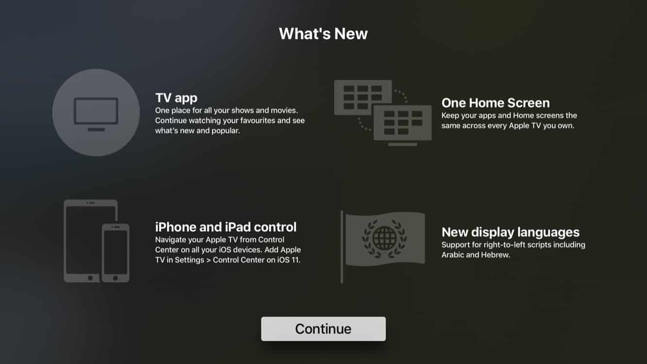 Apple releases tvOS 11 and watchOS 4 to the public