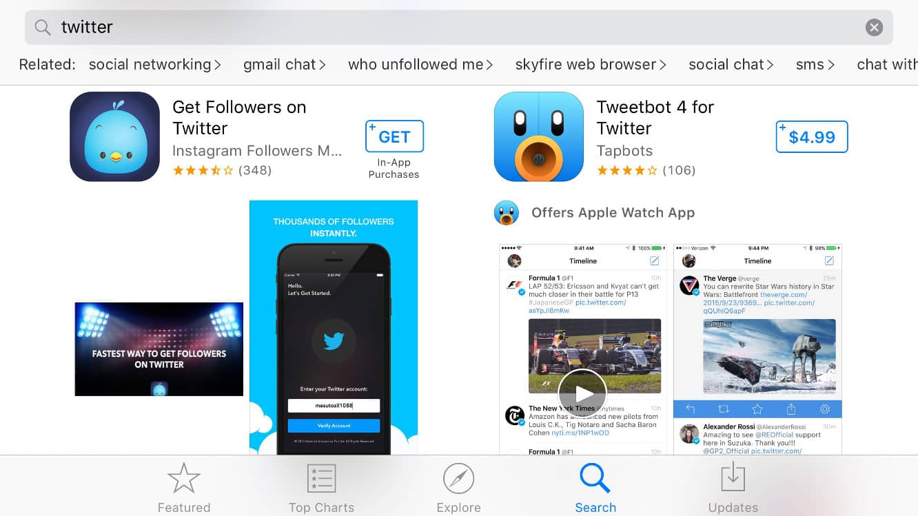 App Store gets search engine improvements