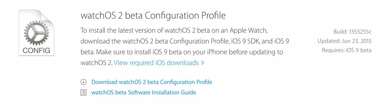 Apple releases second iOS 9, watchOS 2 betas to developers