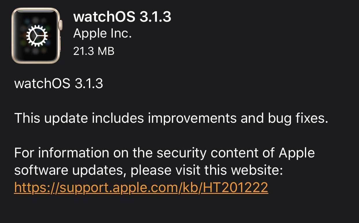 Apple releases tvOS 10.1.1, watchOS 3.1.3