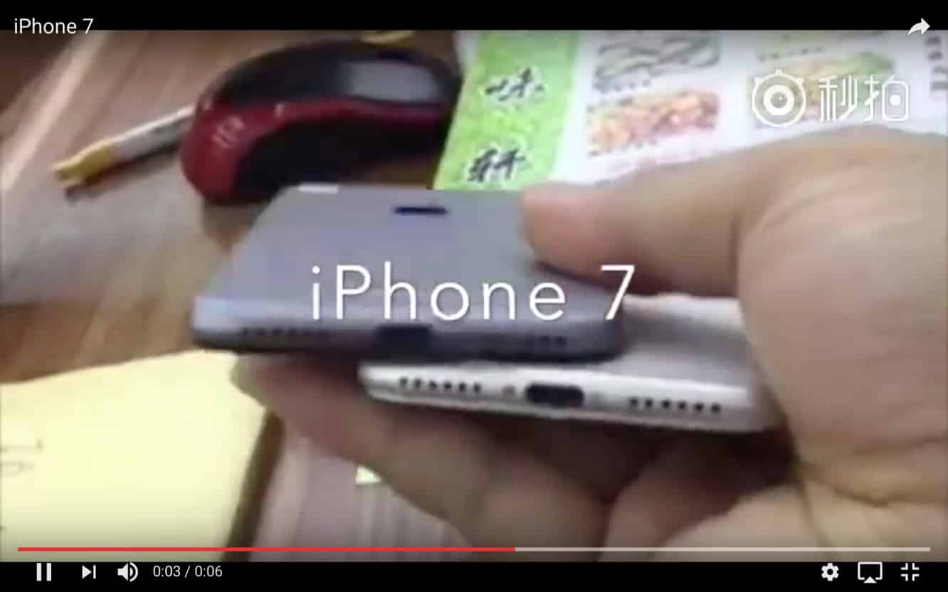 Video of alleged iPhone 7 shows lack of headphone jack, other features