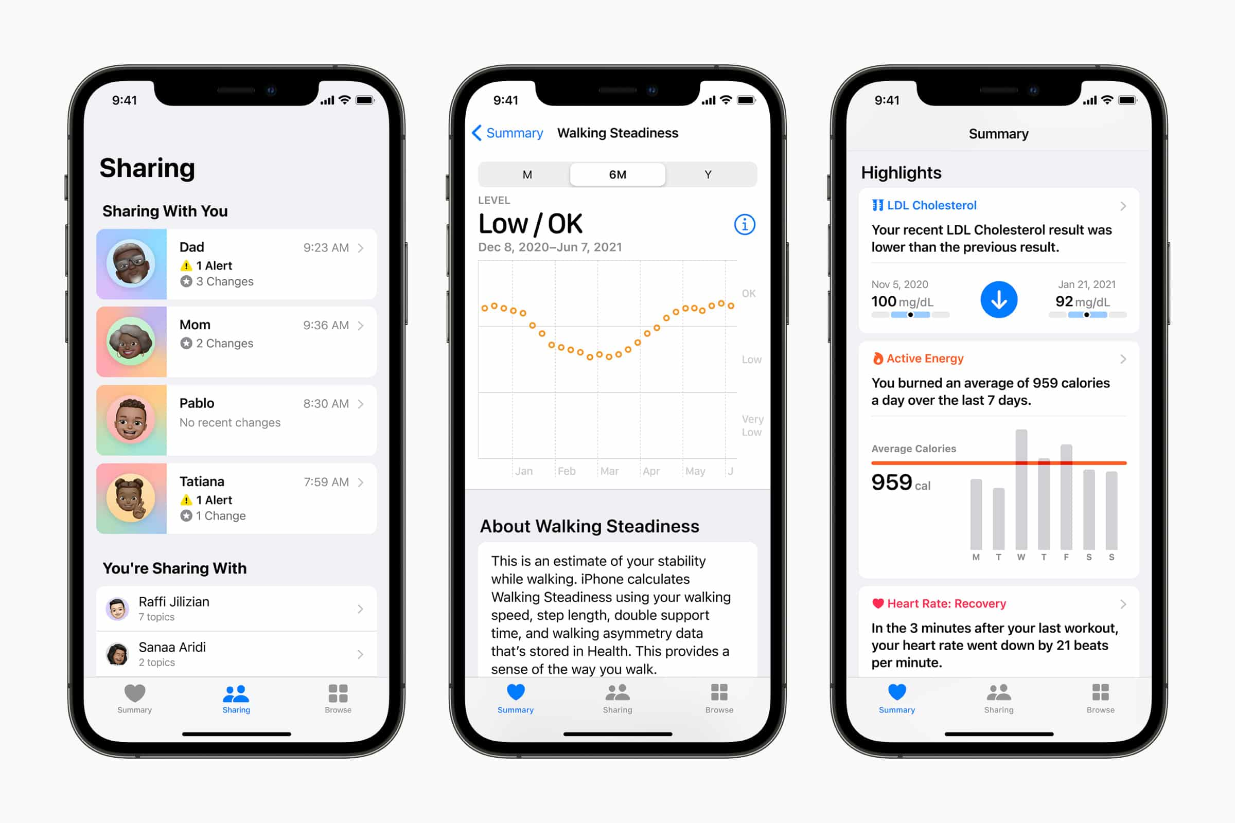 Apple introduces health insights sharing