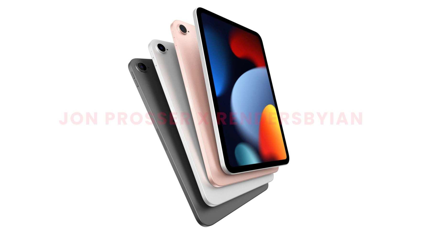 iPad mini 6 design renders leaked by Jon Prosser