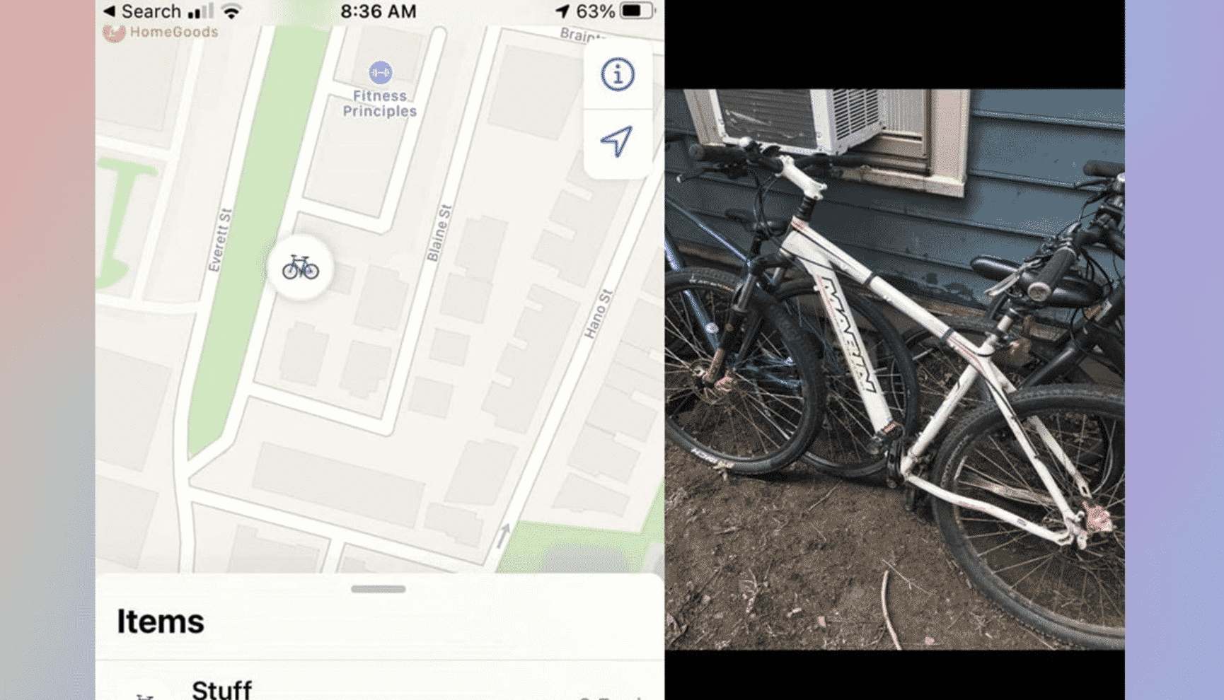AirTags to Retrieve Stolen Bicycle