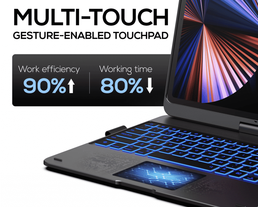 TypeCase Keyboard with multi-touch