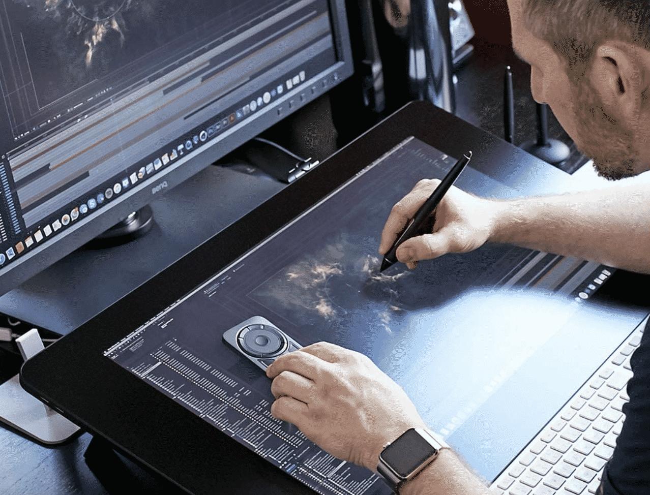 Wacom DTK2420K0 Cintiq Pro 24 Creative Pen Display – 4K Graphic Drawing Monitor