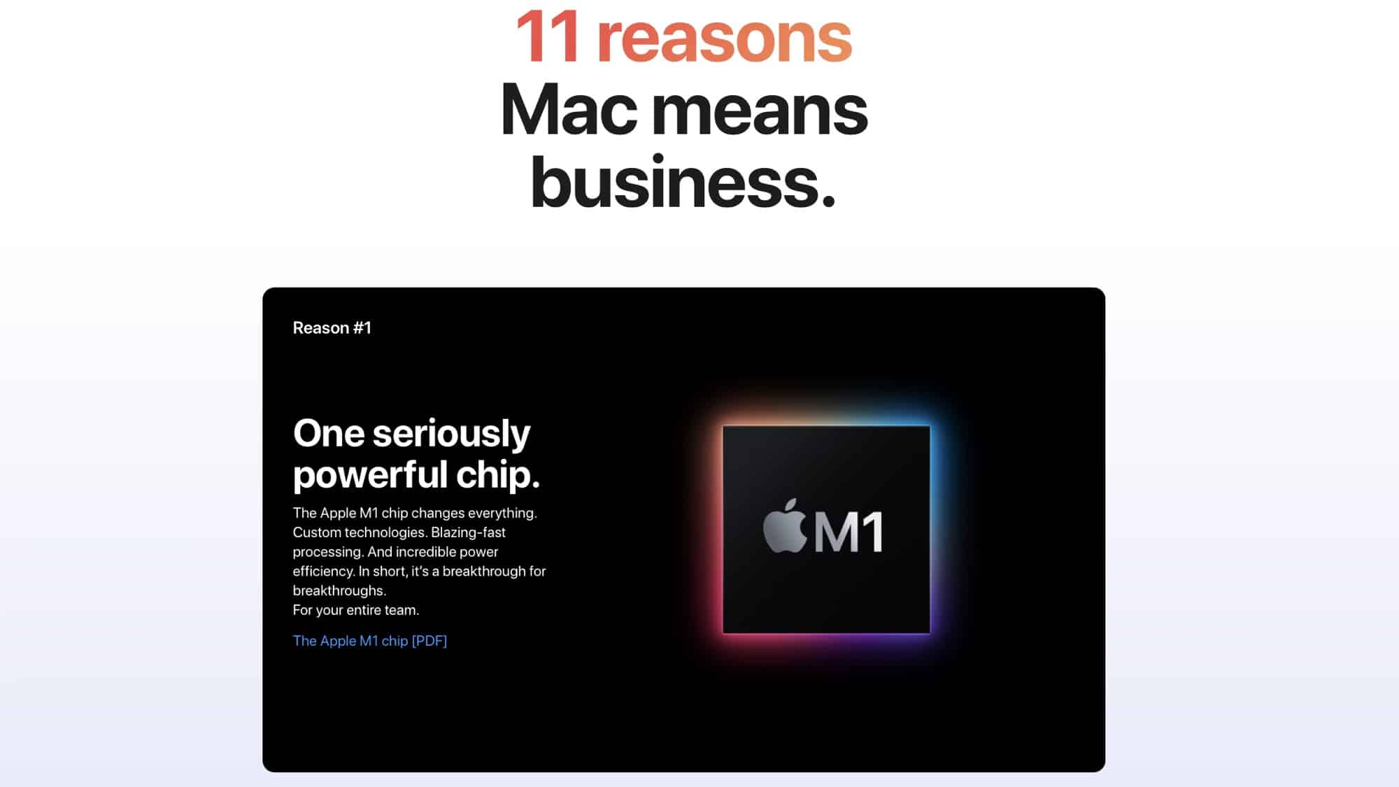 Apple details reasons why businesses should use Mac