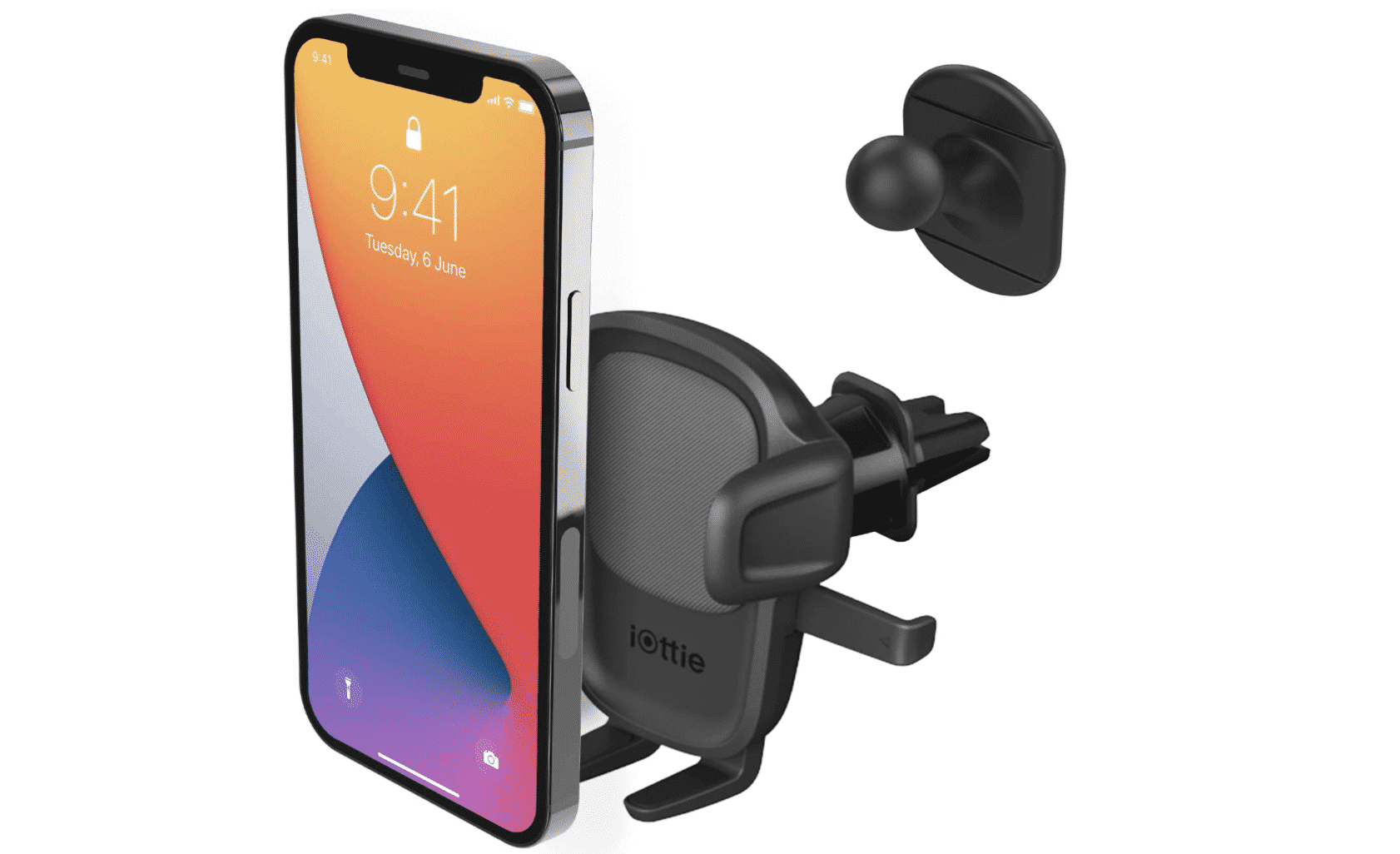 iOttie Easy One Touch 5 Air Vent Car Mount Phone Holder W:Flush Mount for iPhone