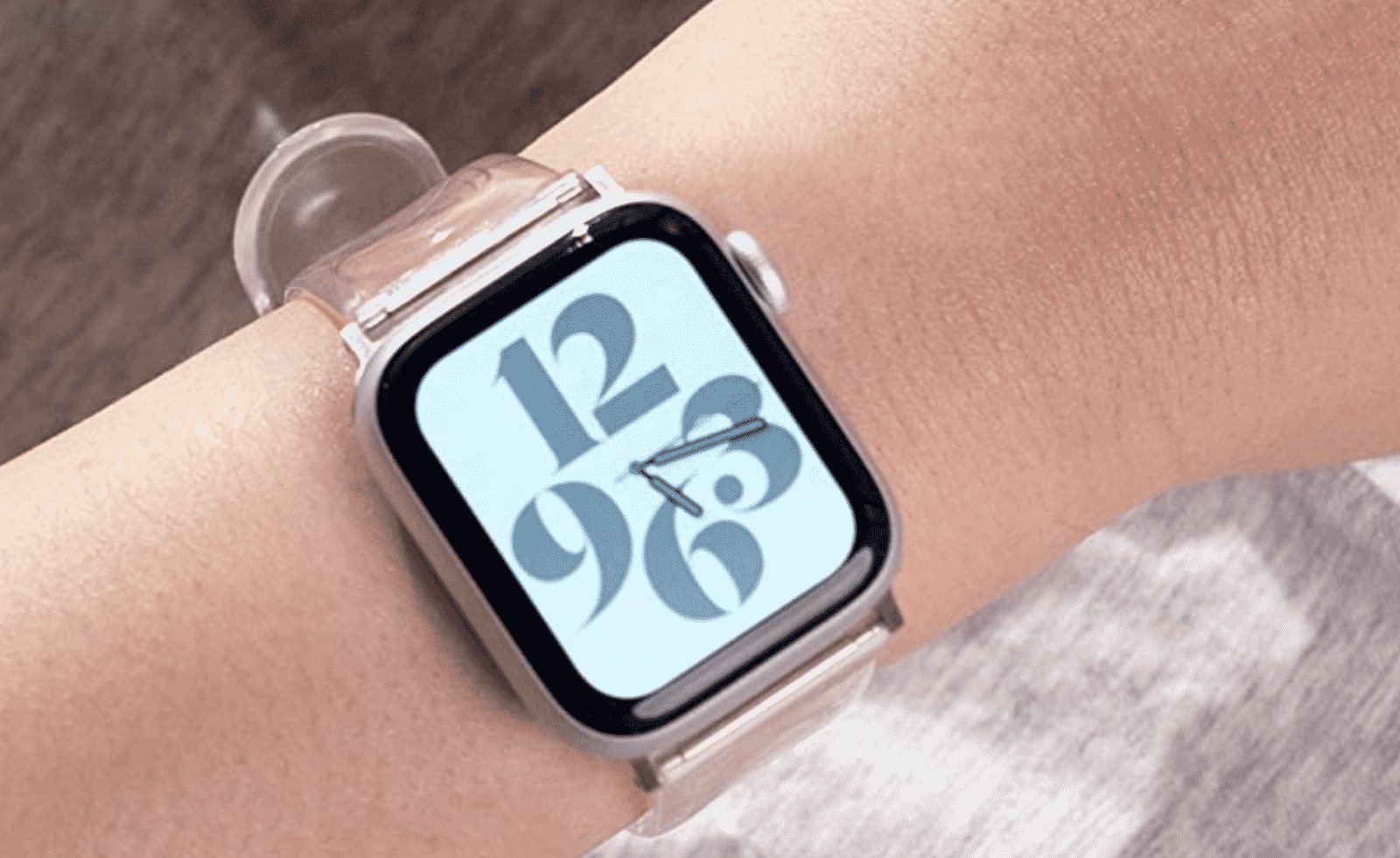 Apple Watch with a Clear Band