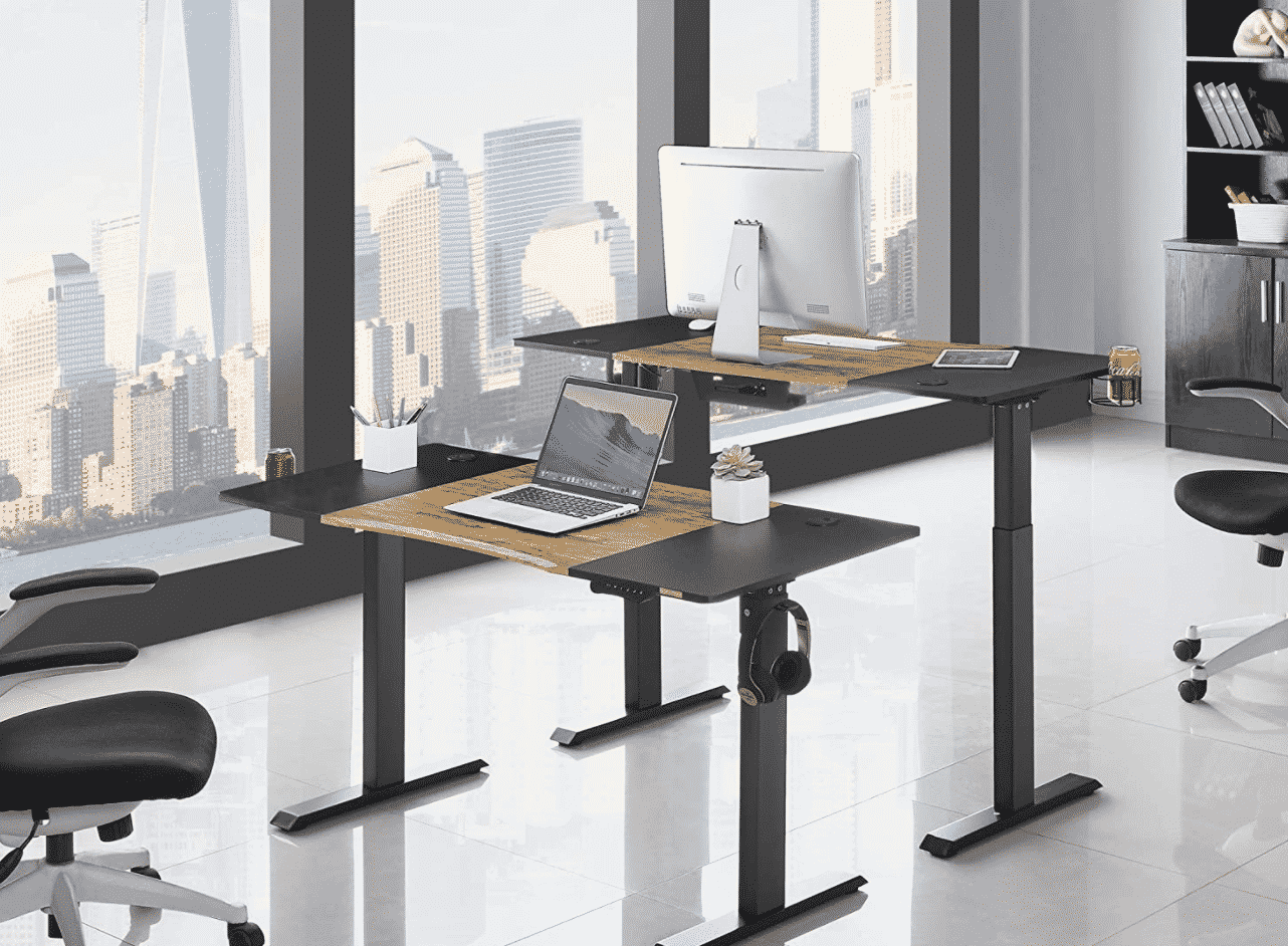Neck and Eye-Friendly Electric Standing Desk