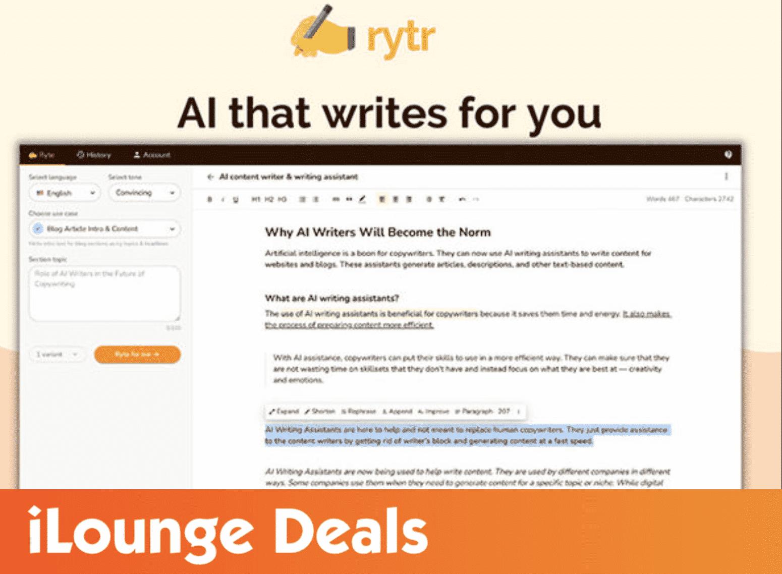 Rytr Lifetime Subscription