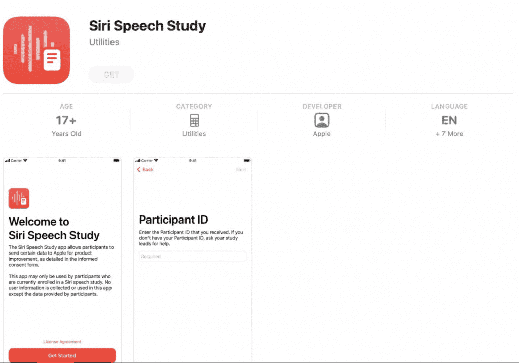 Siri Speech Study