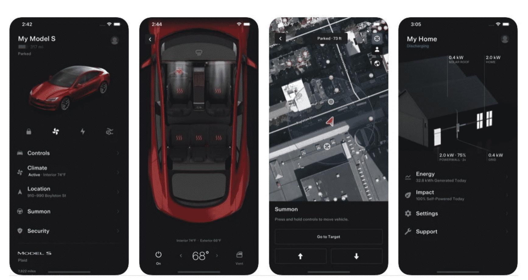 Tesla Updates Its iOS App