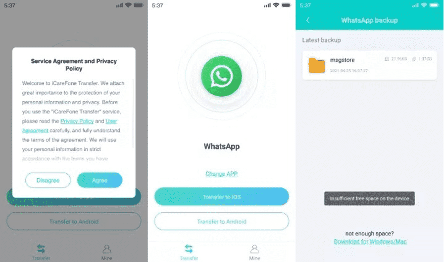 How To Transfer WhatsApp Messages from Android to iPhone without PC
