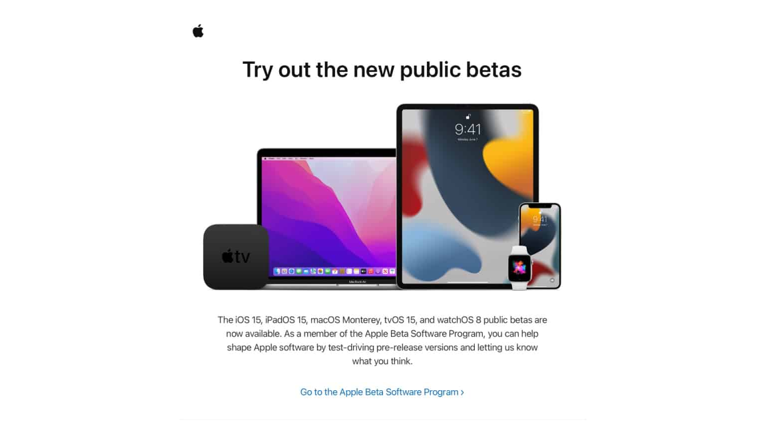 Apple expands public beta testing to more users: iOS 15, macOS 12, iPadOS 15, and more