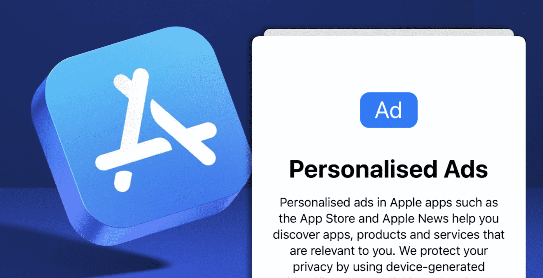 Personalized Ads toggle