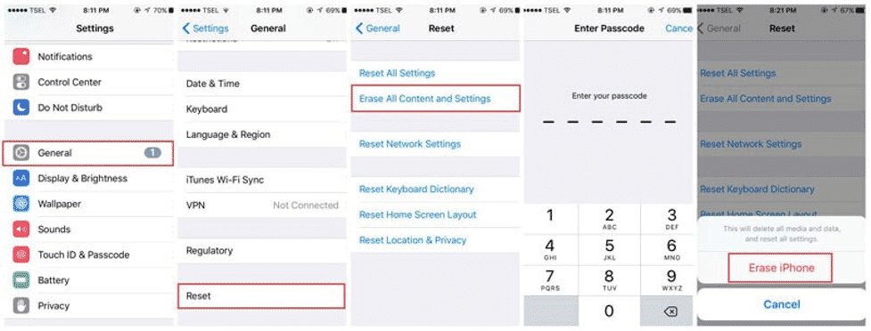 remove all data from iphone 13