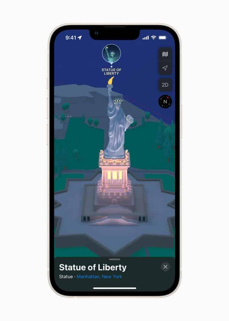 Apple Maps - Statue of Liberty