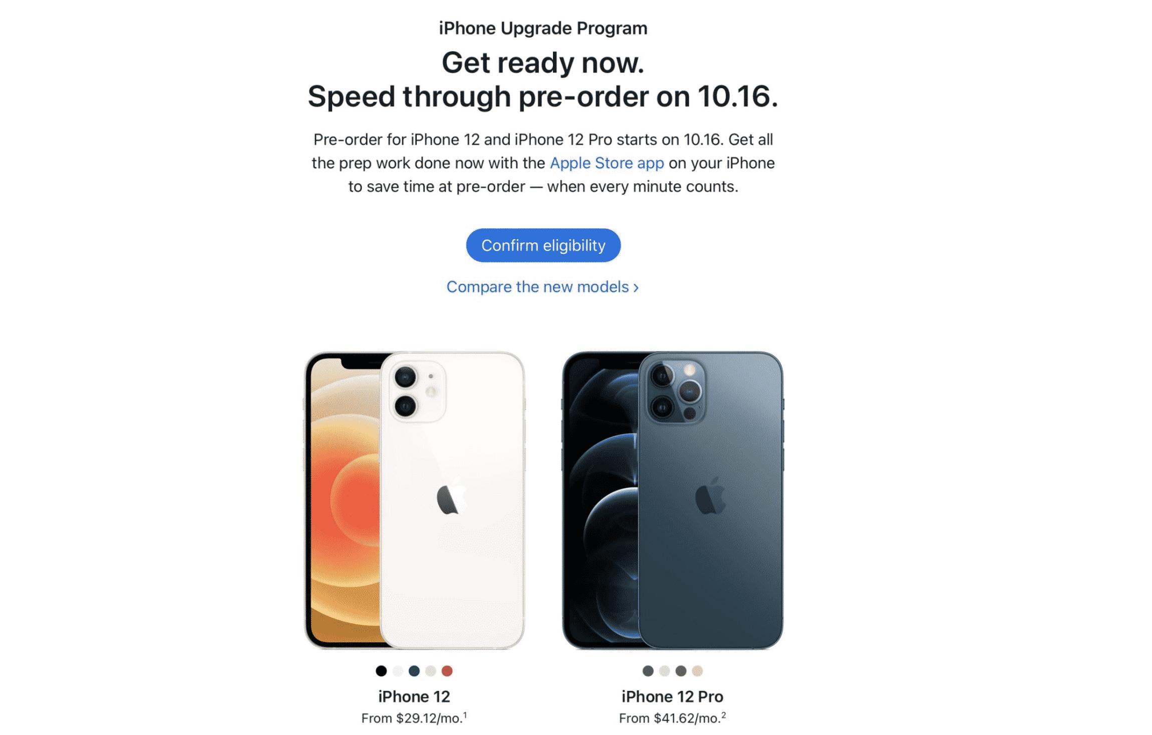 iPhone 13 via iPhone Upgrade Program