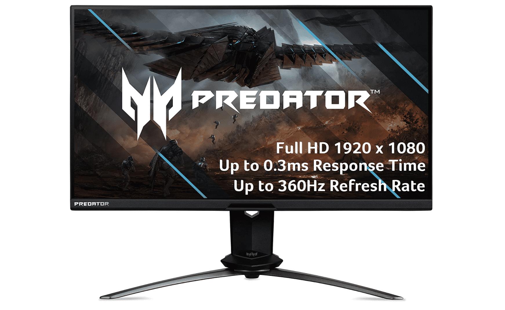 "Acer Predator X25 bmiiprzx 24.5"" FHD (1920 x 1080) Dual Drive IPS Gaming Monitor"