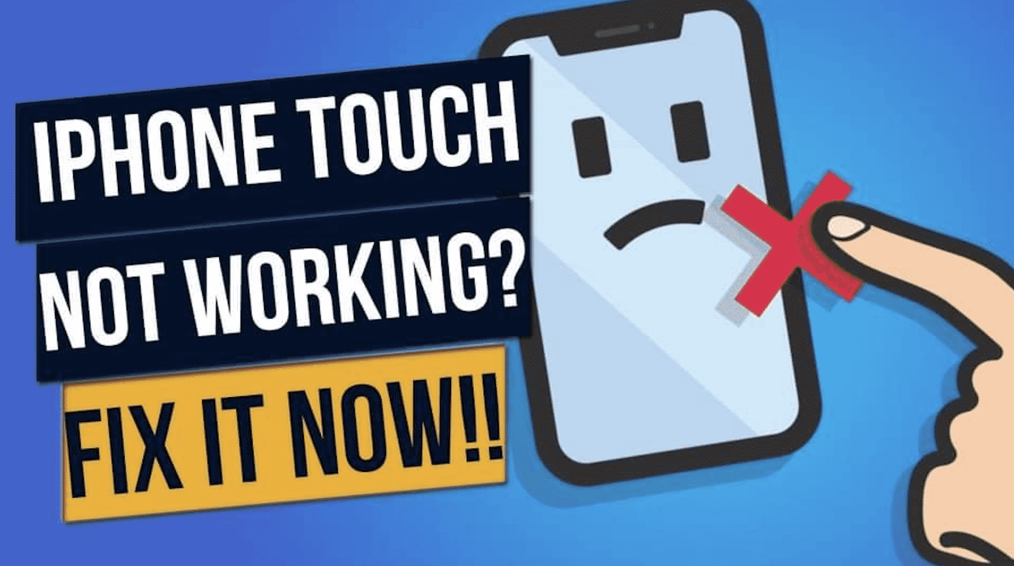 fix iPhone touch screen
